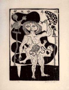 Antonio Henrique Amaral, Gestação, xilo, 1962
