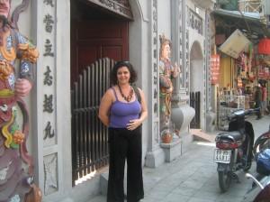 Algum templo de alguma coisa no centro da cidade - o letreiro estava em vietnamita.
